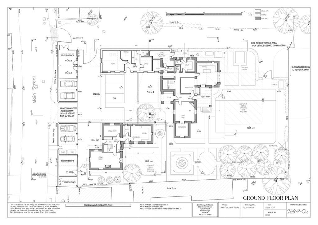 Plans for Laurel Farm great Gidding