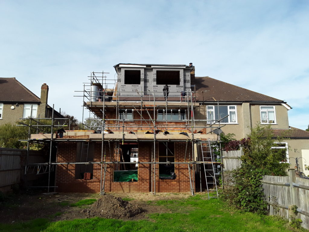 Extension & attic conversion in progress