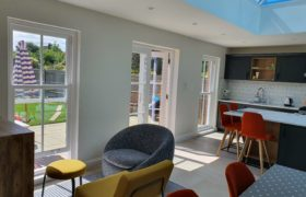Interior of completed kitchen extension