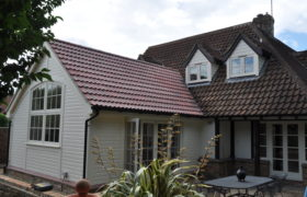 Completed timber frame extension
