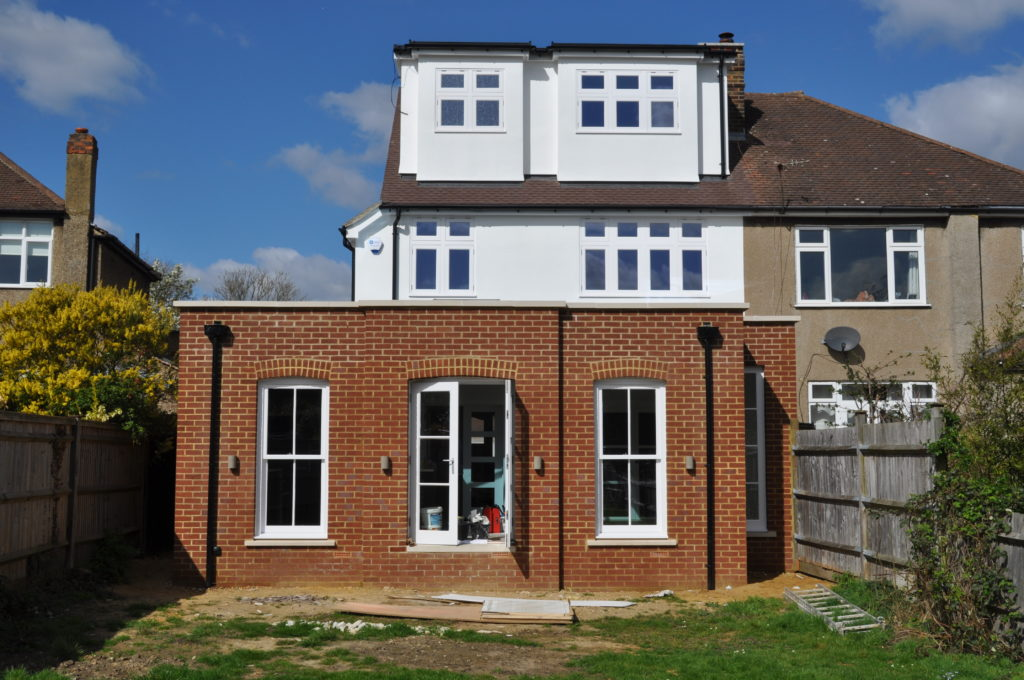 Completed kitchen extension & attic conversion